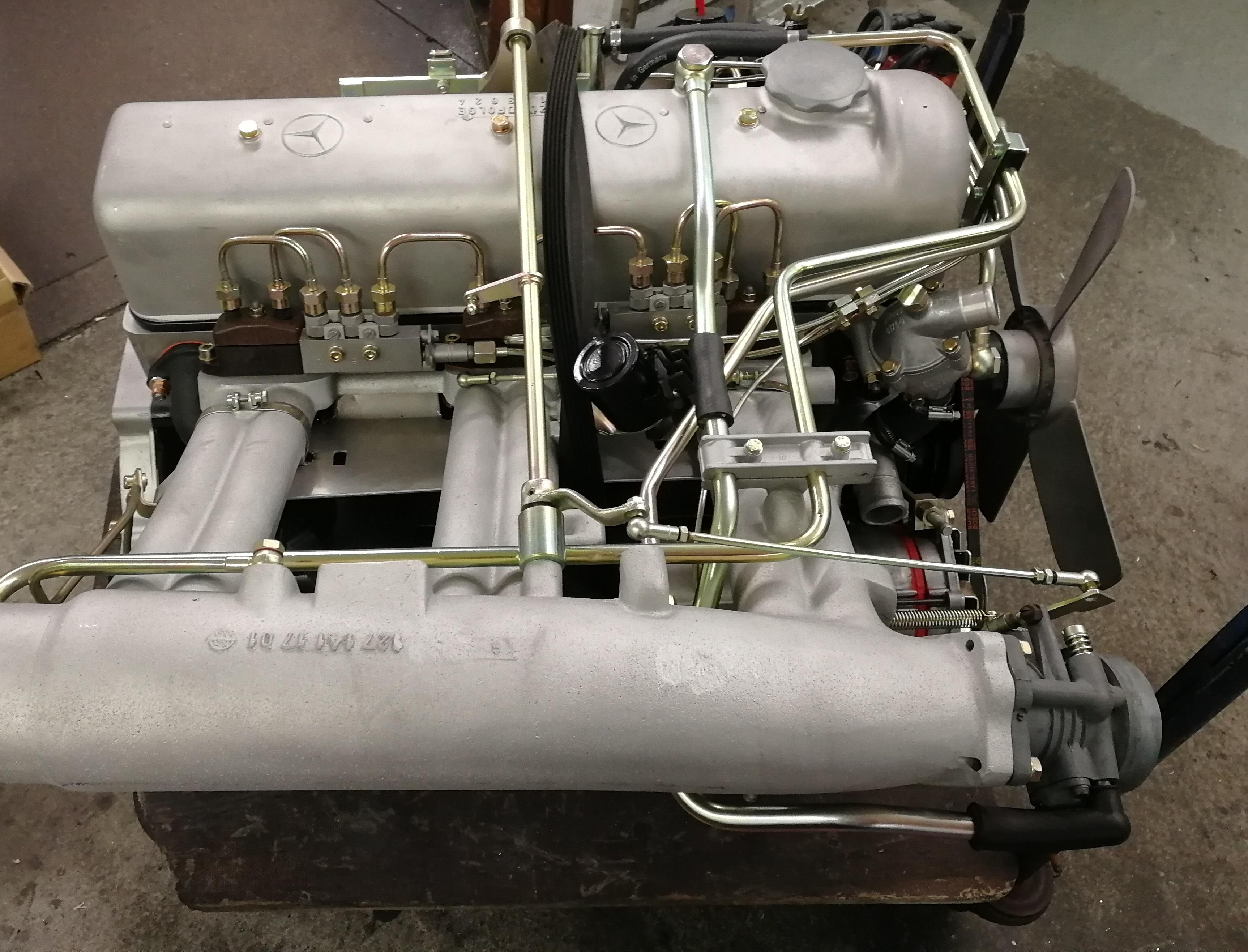Motor 220 SEB M129 W111 vor und nach der Instandsetzung